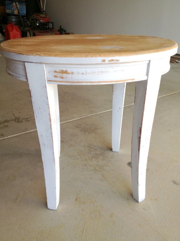 Table Sanded - DIY Table Makeover - Two Purple Couches
