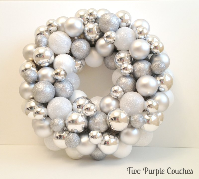 ornament wreath - Two Purple Couches