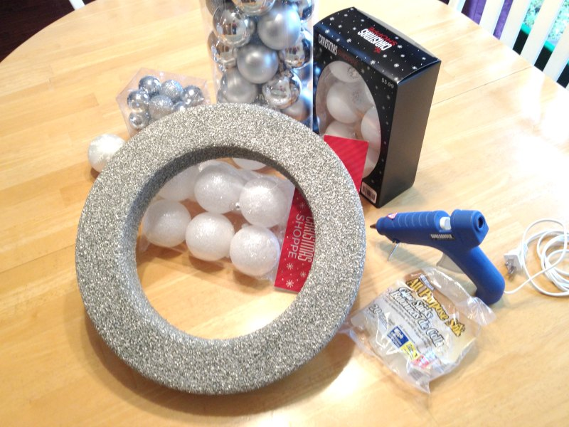 ornament wreath supplies - Two Purple Couches