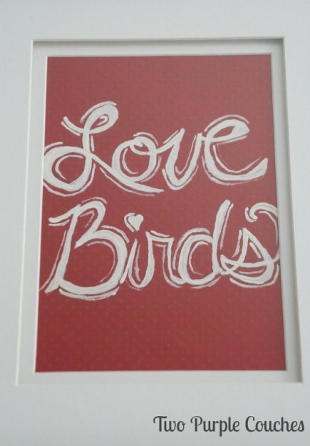 Love Birds DIY art