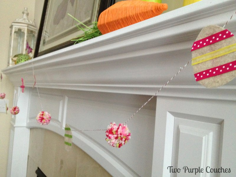 Easter Egg Garland by Two Purple Couches