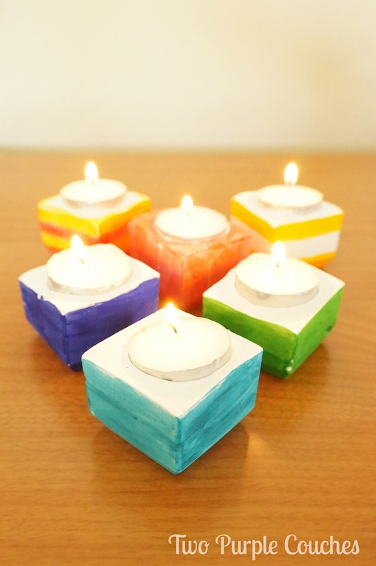 DIY clay votives / Darby Smart craft - Two Purple Couches