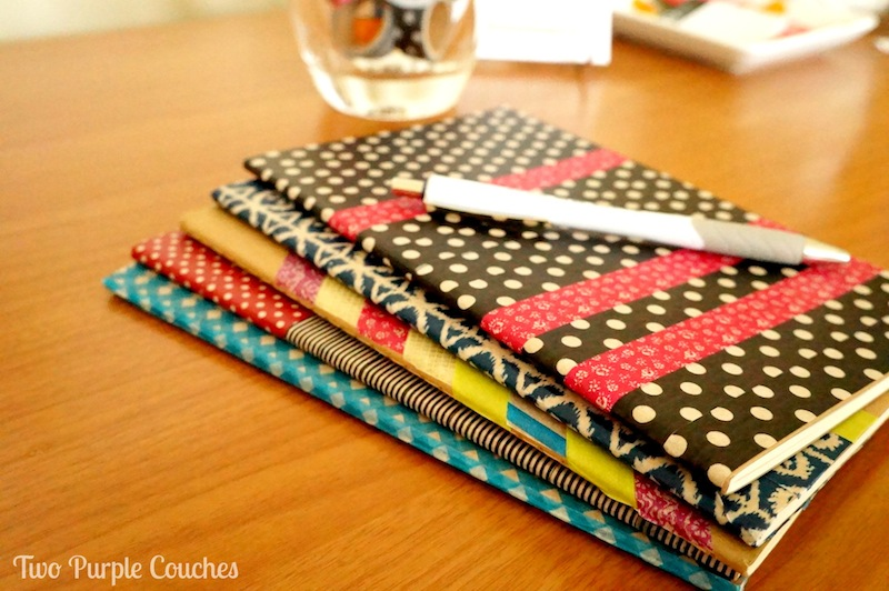 Washi Tape Notebooks - Two Purple Couches