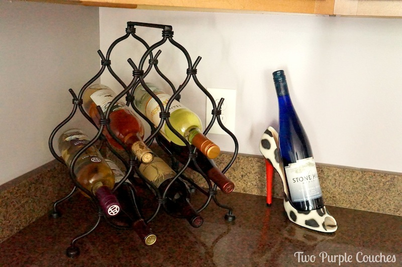 kitchen tour, wine rack