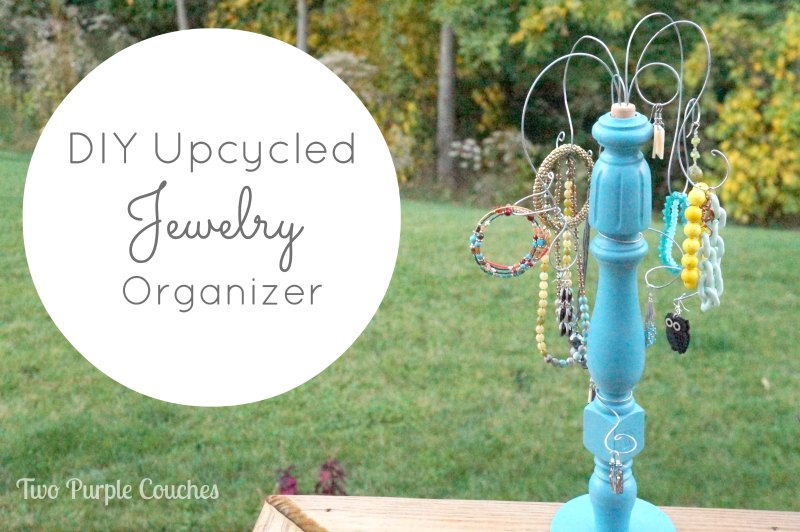 DIY Upcycle Jewelry Organizer - Two Purple Couches