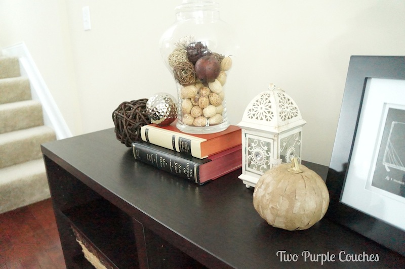 Fall Bookshelf - Two Purple Couches