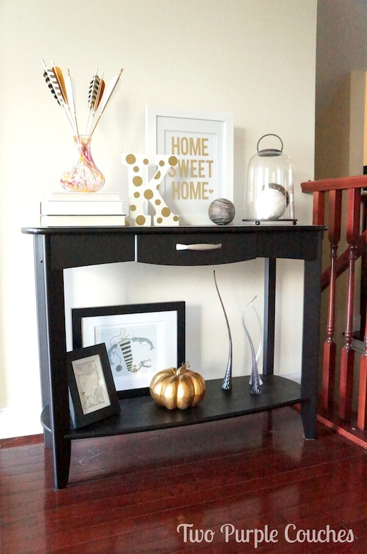 Fall Entry Console - Two Purple Couches