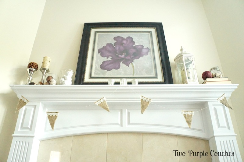 Fall Mantel - Two Purple Couches