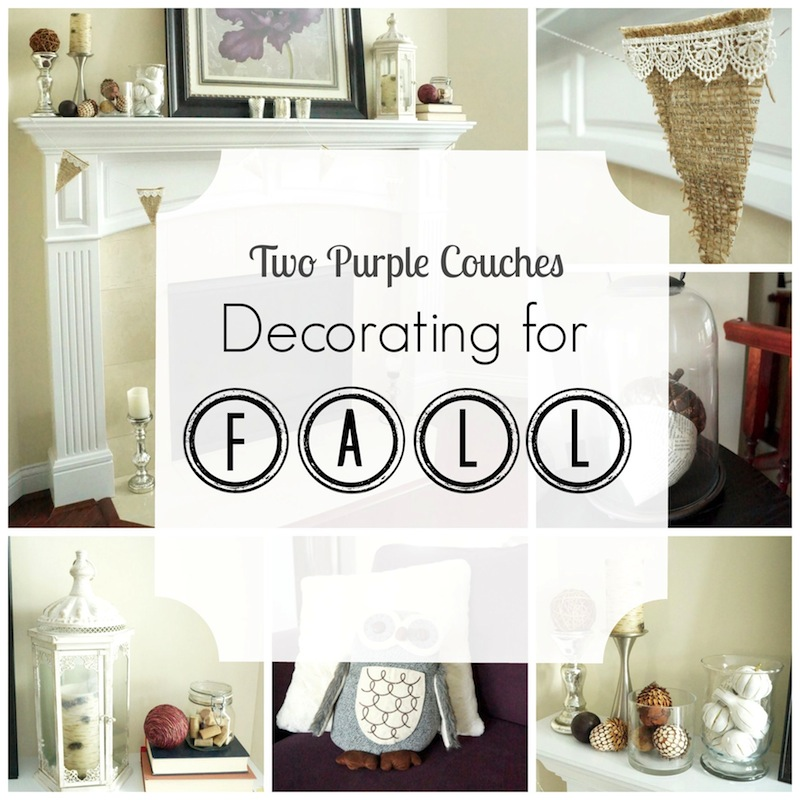 Fall-i-Days Blog Hop - Decorating for Fall - Two Purple Couches