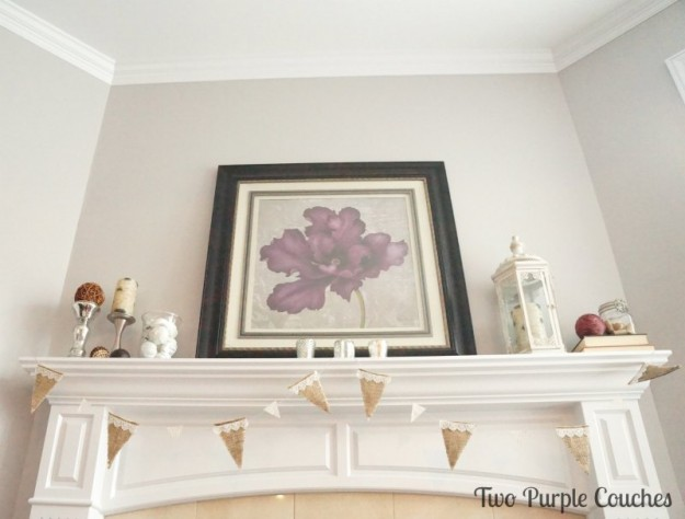 Mantel - Two Purple Couches