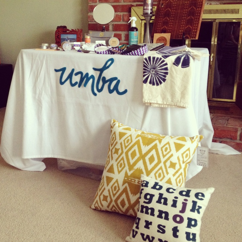 Umba Trunk Show Display