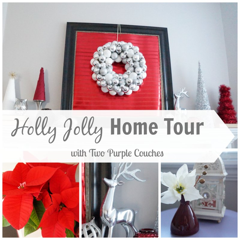 Holly Jolly Home Tour - Two Purple Couches