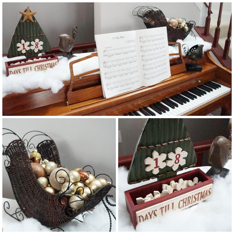 Piano collage - Christmas Home Tour