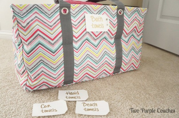 Easy labels for your linen closet - Two Purple Couches