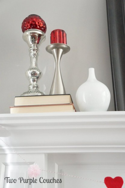 Mantel with mercury glass