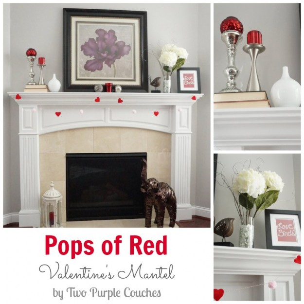 Valentine's Mantel Collage