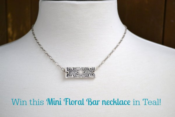 Win this Mini Floral Bar necklace