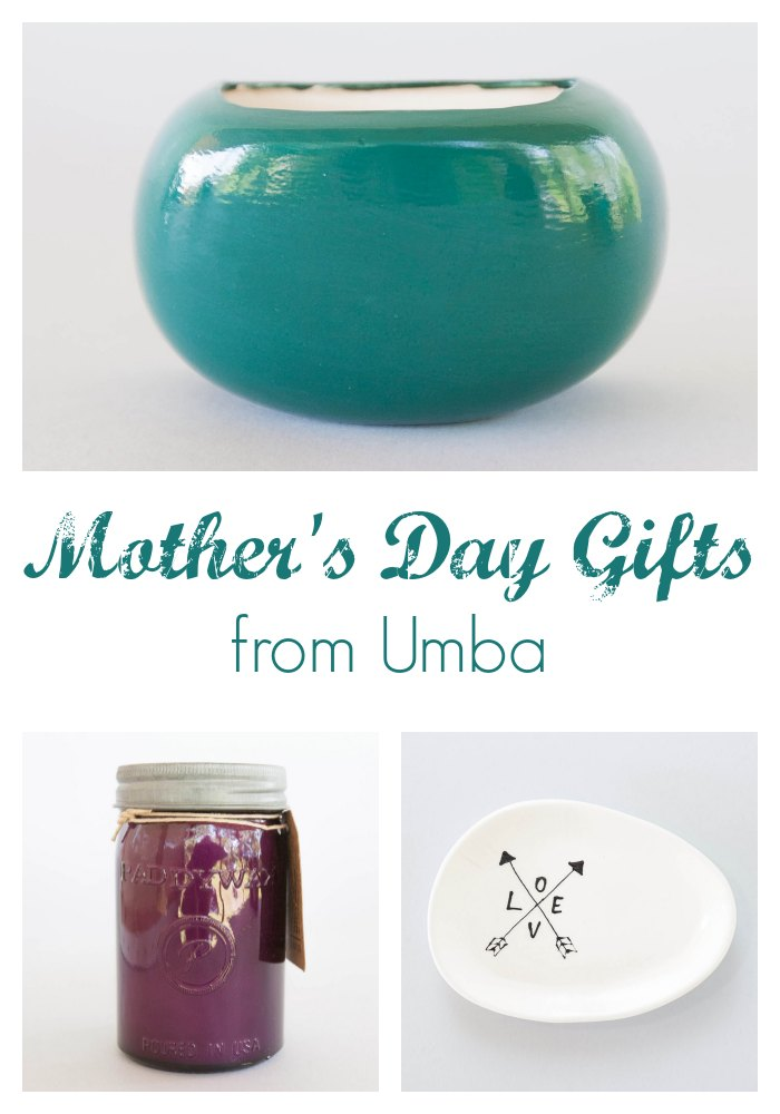 Handmade Mother's Day Gifts from Umba by Two Purple Couches
