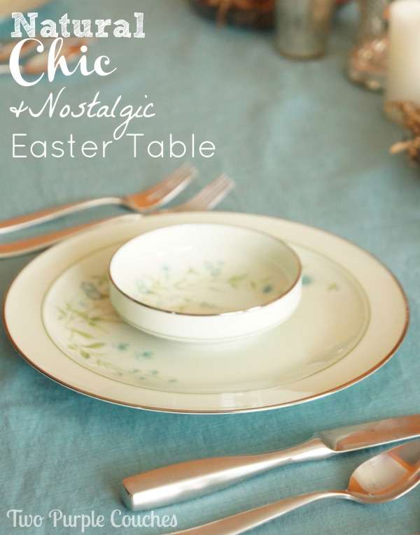 Natural Chic Easter Table by Two Purple Couches