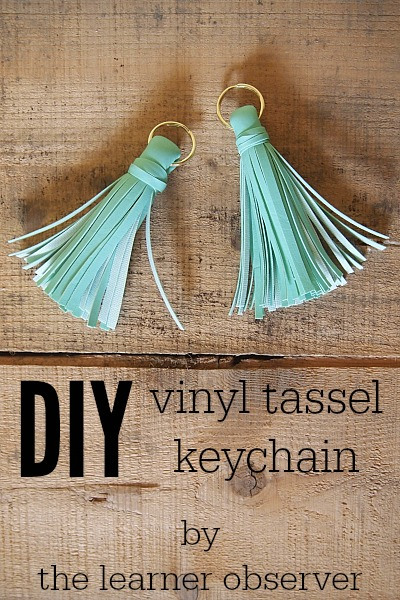 DIY Vinyl Tassel Keychain by The Learner Observer