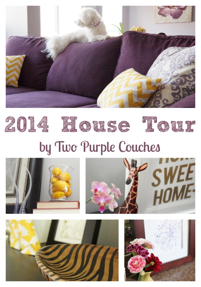 House Tour of 2014 by Two Purple Couches #housetour #hometour #homedecorating #interiordecorating