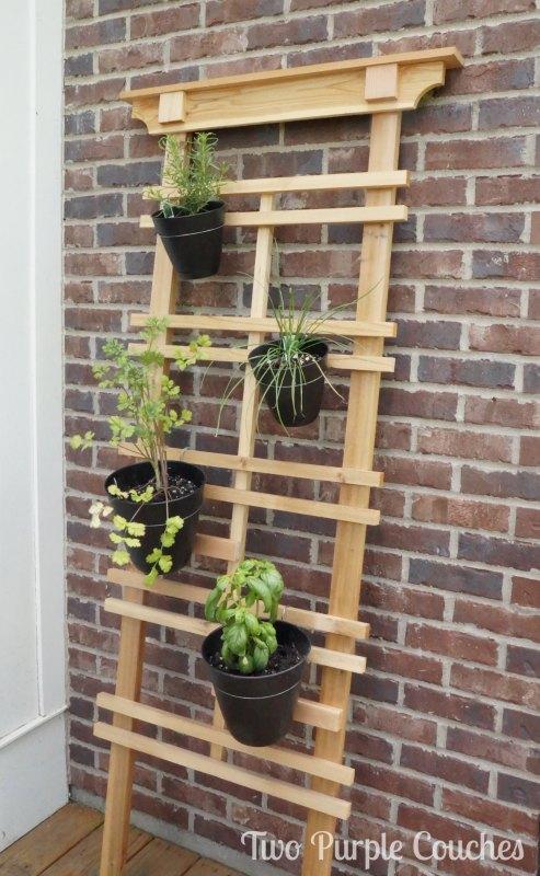 How To Make A Vertical Herb Garden Two Purple Couches