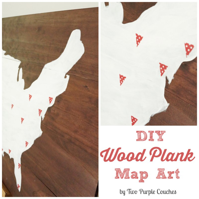 DIY your own Wood Plank Art by Two Purple Couches #diy #art #america #woodart #rustic
