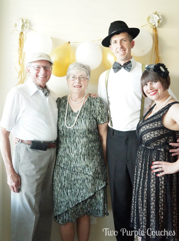 Make a photo booth for your Roaring Twenties party by Two Purple Couches