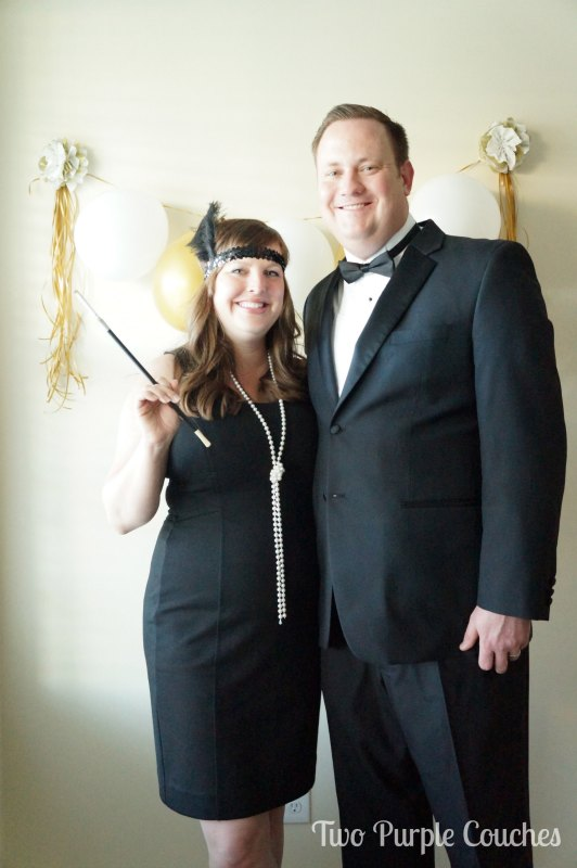 Create a simple Roaring Twenties Photo Booth for parties by Two Purple Couches
