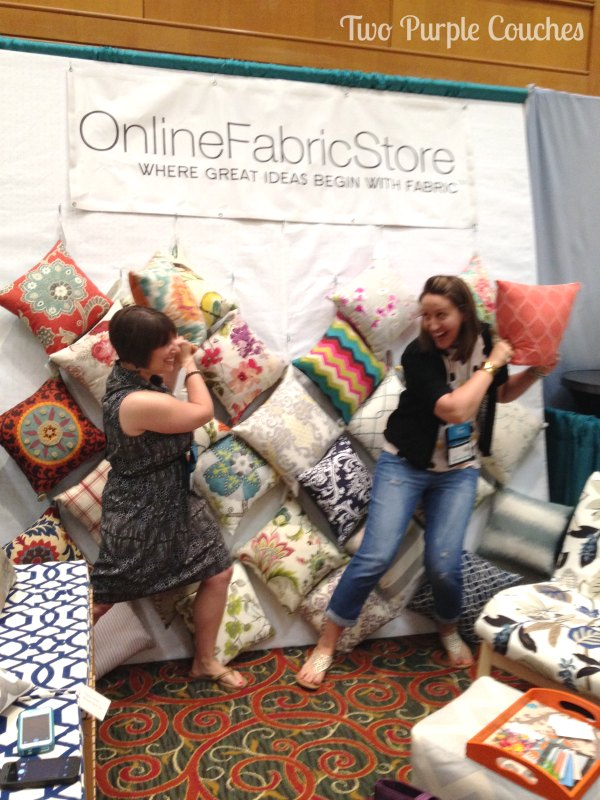 Online Fabric Store Pillow Fight by Two Purple Couches