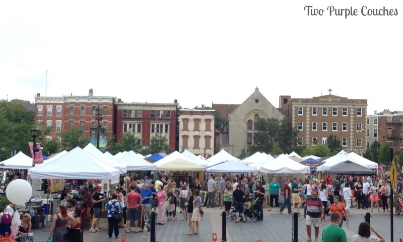 Cincinnati's Washington Park and The City Flea. #thecityflea #thisisotr