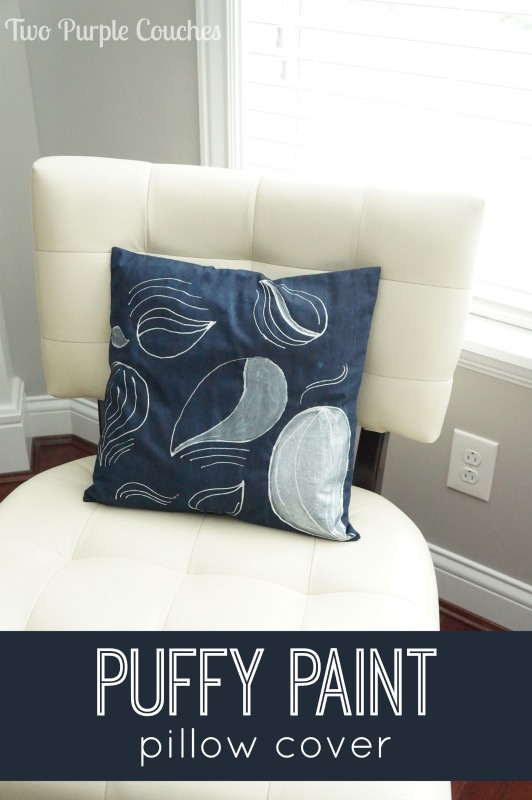 Puffy paint is baaaaack! And looking chic as ever. Emily has some great tips and tricks for using puffy paint to embellish d.i.y. envelope pillow covers. Such an easy way to change up decor!