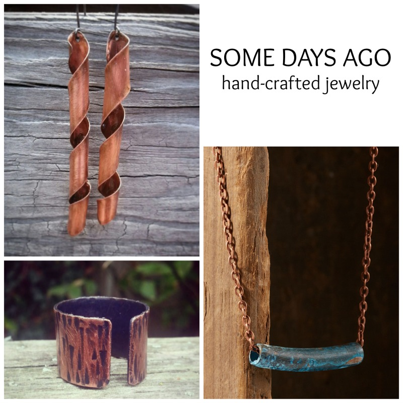 I Heart Handmade: Some Days Ago handcrafted jewelry #somedaysago #buyhandmade #jewelry www.twopurplecouches.com