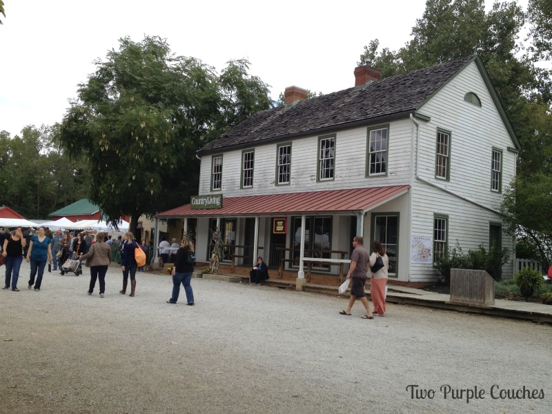 Ohio Historical Village, setting for the Country Living Fair in Columbus Ohio. via www.twopurplecouches.com #CLFair #CountryLiving #Fall #Fairs #columbus #ohio