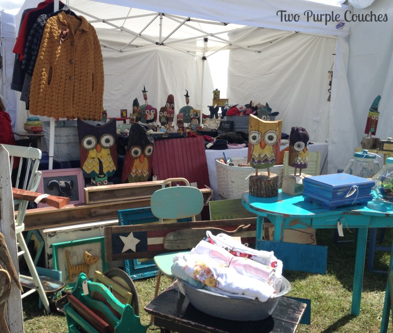 Another great vendor booth at the Country Living Fair in Columbus Ohio. via www.twopurplecouches.com #CLFair #CountryLiving #Fall #Fairs #owls