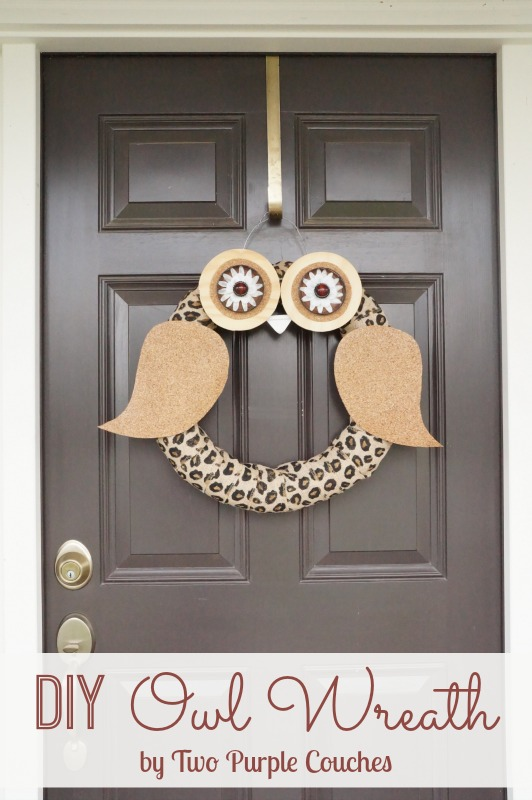 DIY Owl Wreath - Two Purple Couches