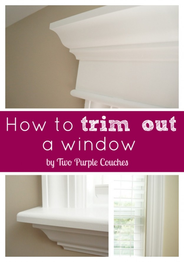 Window trim is a simple DIY home improvement project that makes a big impact. Create a custom, high-end look by installing interior trim and moulding.