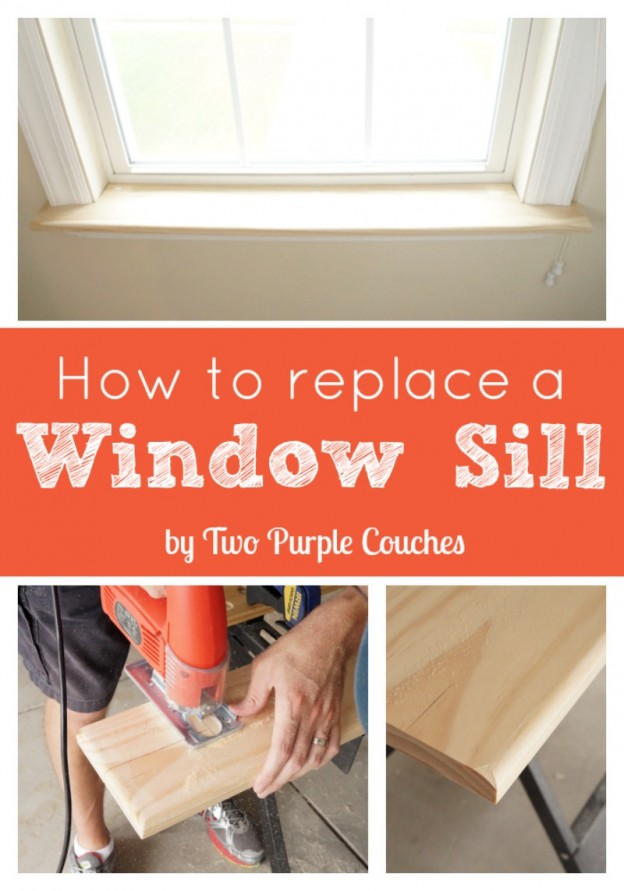 How To Replace an Interior Window Sill & How To: Replace an Interior Window Sill - two purple couches islam-shia.org