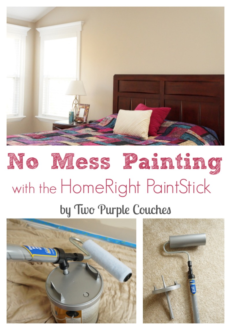 Makeover your space with no mess using the HomeRight PaintStick EZ-Twist. via www.twopurplecouches.com