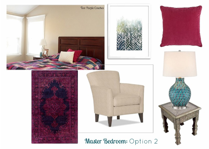 Throwing together a mood board always helps me focus on the right decor and accessories for my space. via www.twopurplecouches.com