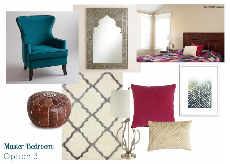 When decorating has me stumped, I put together a mood board of ideas to help me focus on what I really want in my space. via www.twopurplecouches.com