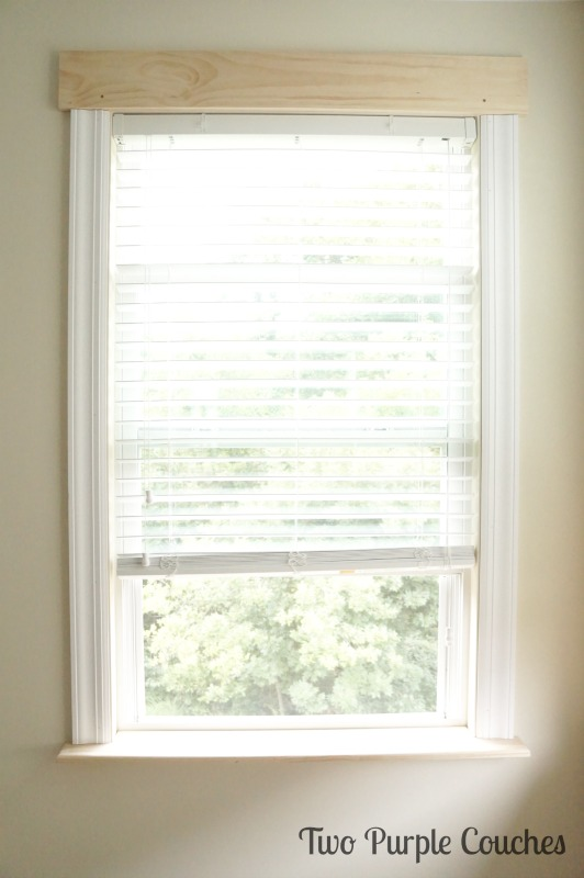 Step-by-step tutorial to learn how to trim out a window. via www.twopurplecouches.com
