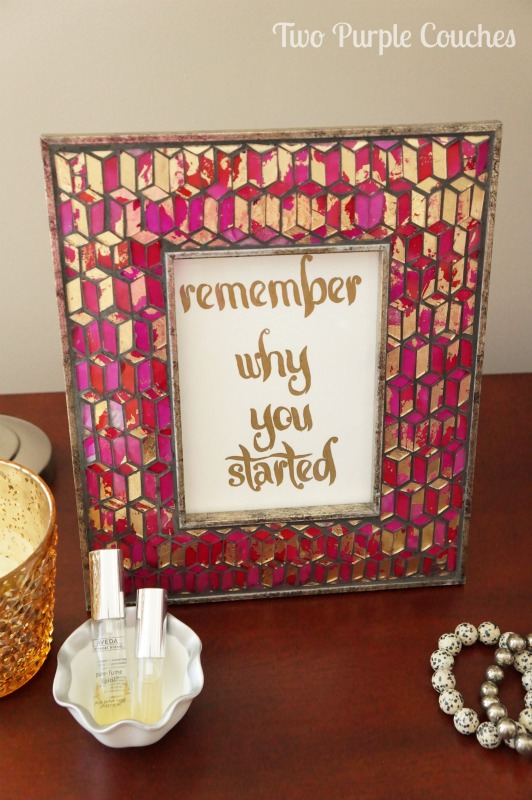 DIY Paint Pen Quote Art via www.twopurplecouches.com