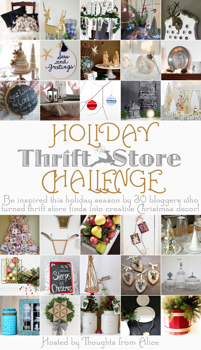 Thrift Store Challenge Simple Christmas Decorations
