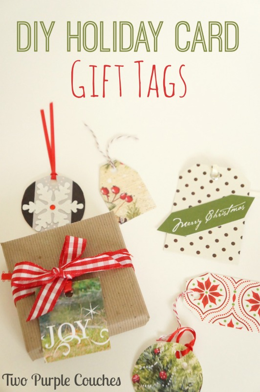 Diy Holiday Gift Tags Two Purple Couches