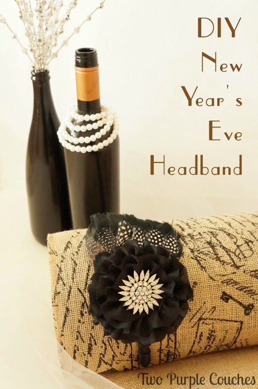 DIY New Years Eve Party Headband via www.twopurplecouches.com