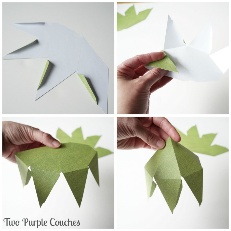 How to assemble geometric ornaments made with Silhouette Cameo. via www.twopurplecouches.com