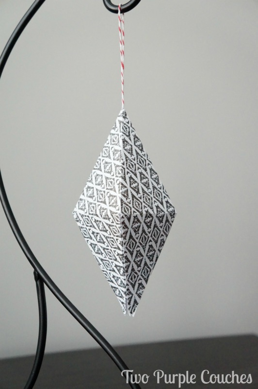 Modern Geometric Ornaments via www.twopurplecouches.com
