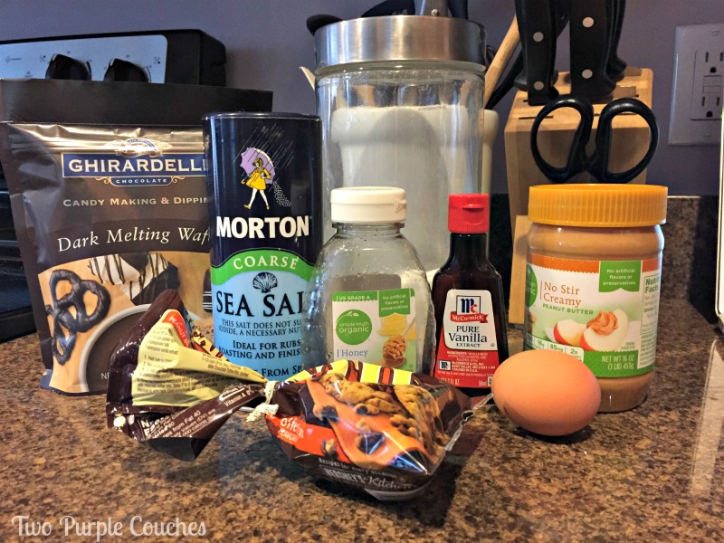 Ingredients for Peanut Butter Crunch Cookie