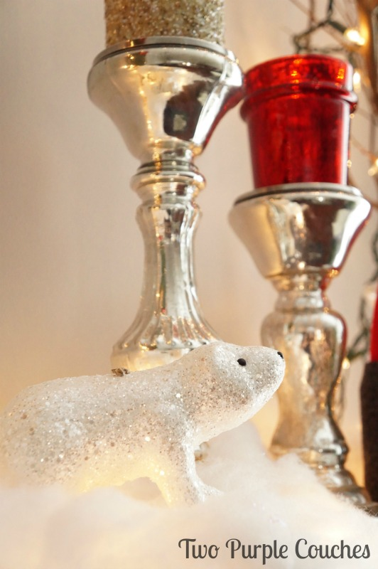 Polar Bear Christmas Decor via www.twopurplecouches.com
